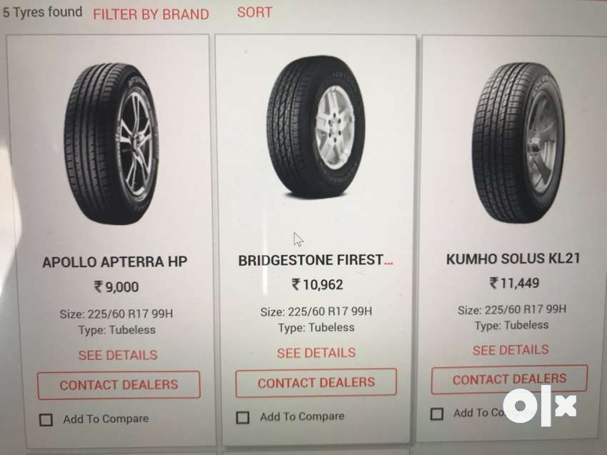 tyres are manufactured by Kumho 0
