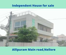 Independent house for sale Near SBI, Allipuram, Nellore