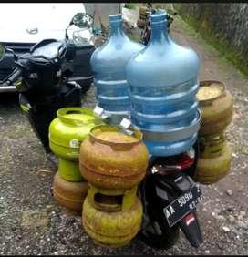 Tempat Bawa / Alat Angkut Gas 3kg dan Galon di Motor