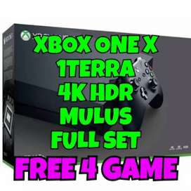 Xbox one x hitam 4k hdr free 20 game
