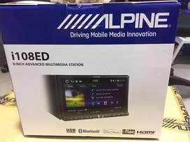 Alpine I108ED Head Unit Double Din DVD i108ED KHUSUS ALPHARD /CHR 8 IN