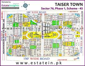 Taiser Town Plot for sale Sect. 76 Phase-1 240 Sq Yard, 9.5 Lac Demand