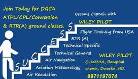 DGCA ground classes for CPL/ATPL & RTR(A)