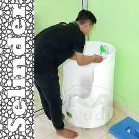 tempat wudhu portable silinder, wudhu portable