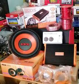 "Plus Pasang,Subwoofer ADS 12""+Power ADS 4Ch+Tweeter Ts+Box mdf+Kabel"""