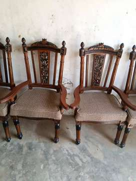 Dinning table chairs.  8 men