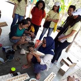 Kerajunan kayu batik dan paket belajar batik