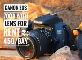 Canon EOS 700D for rent ₹:450/day