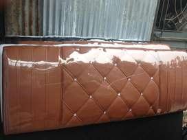 1set tempat tidur/divan + sandaran kayu lapis oscar. 180x200cm
