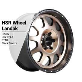 VELg mobil racing ring20 new HSRwheel PCD 6×139,7 untuk Pajero DP 10%