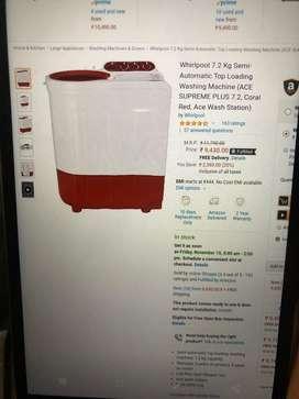 SALE SALE SALE Whirpool 7.2kg Semi Automatic Washing Machine New Packd