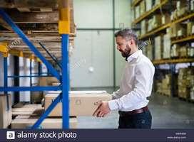 Hiring for supervisors in warehouse