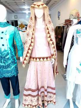 Tea pink waleema dress