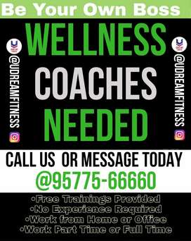 Need Health Coaches to work in Fitness Offline and Online.