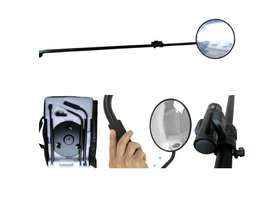 V3 Safety and Security Mirrors with Rotatable Wheels, LED Torch & Big