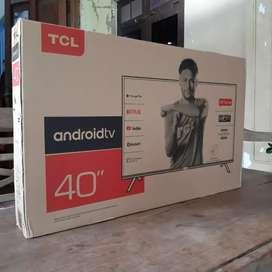 Tv TcL 40 inch androidTV neew garansi resmi