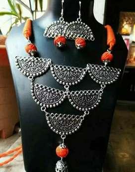 Oxidise jewelery set