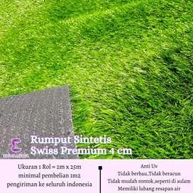 Rumput sintetis swiss premium 4cm Taman