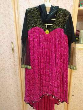 Cocktail frock.Medium size. Frock duppata trouser