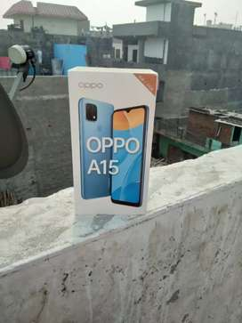 New phone 3ram rom32 oppo a15  15days old bil box sab available he