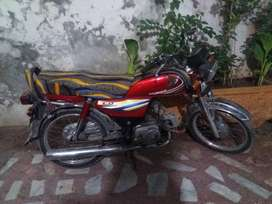 my honda cd 70 red clor