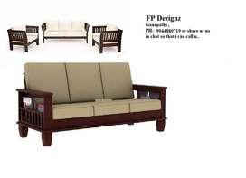 Z Wood sofa of Teak Wood