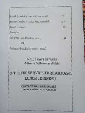 Tifin service homely food