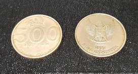 Uang Koin 500 Rupiah Melati edisi 97-03