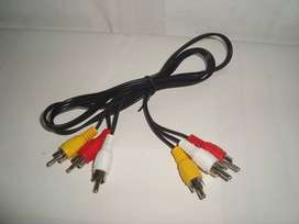 Kabel Audio Video RCA 3 Warna Male To Male Standart