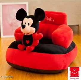 Mickey mouse velvet baby sofa cum kids chair soft toy teddy