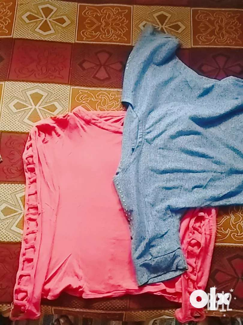 2 tops combo of colour pink and purple 0