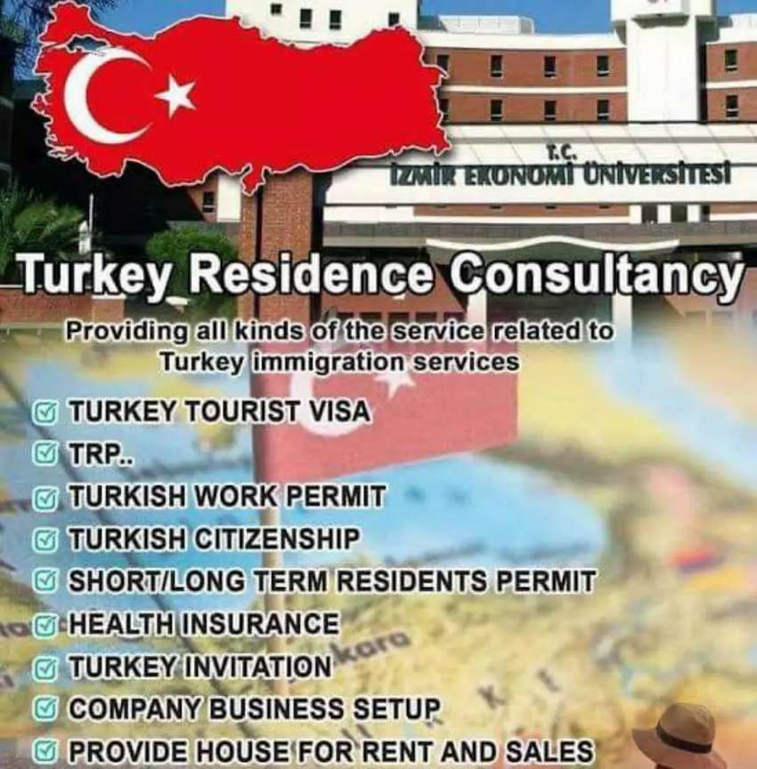 Turkey Work Permit , Visit visa and study visa 0