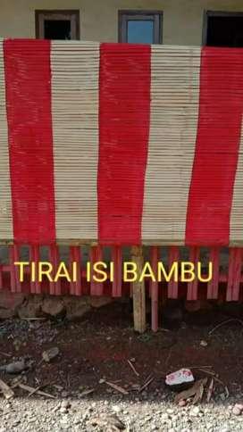 Jual krey dan Tirai Kulit bambu dan isi bambu