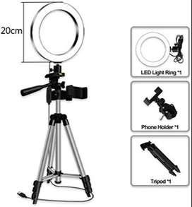New Selfie Ring Light with Tripod Stand & Phone Holder