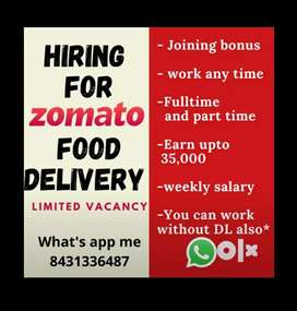 Hiring for food delivery job in kollam