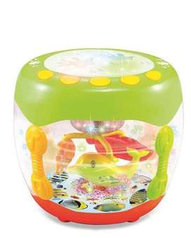 Flash Drum With Rotating Fishes