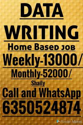 Work from home....mannual script writing