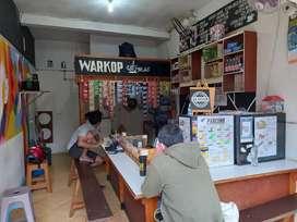Over kontrak Warkop pancong full peralatan