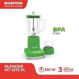 Blender Maspion MT-1272GL-Blender gelas 1Lt 2in1 230watt-listrik hemat