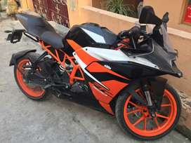 Ktm RC 200 with single channel ABS
