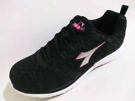 Sepatu Running Diadora Silvano Women Black Pink White Original OBRAL
