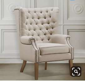 Quilting Design wings chair with 5 years of warranty