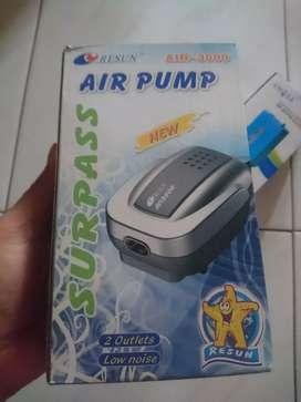 Resun pompa udara aquarium air pump 2 lubang