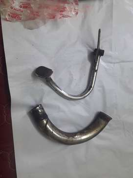 yamaha rx100  original bend pipe and brake pedal for sLe