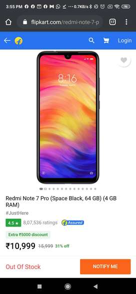 Redmi note 7pro 4/64 blue 7-8 month old