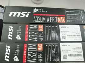Ryzen3 3200g cpu msi a320bord 3year warranty @17000
