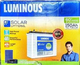 Luminous Tall Tubular Battery 150 ah with 60* months warranty