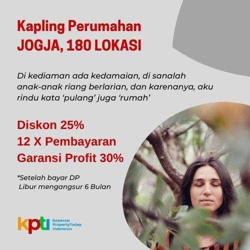 Tanah Perum Jogja Barat YIA Promo Diskon 25% Bisa Diangsur 12X 0