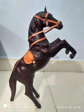 Horse black colour nice condition for show piece