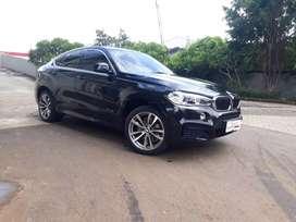 BMW X6 Msport 3.5i Atpm 2017 NIK 2016  Black on Red  Odometer 9rb Mls